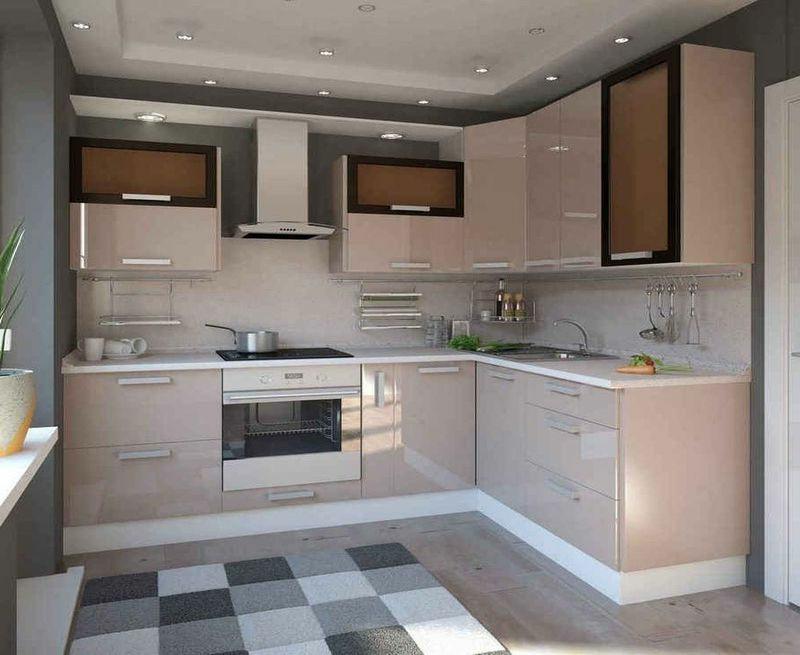 Küche modern gestalten Farbe Cappuccino