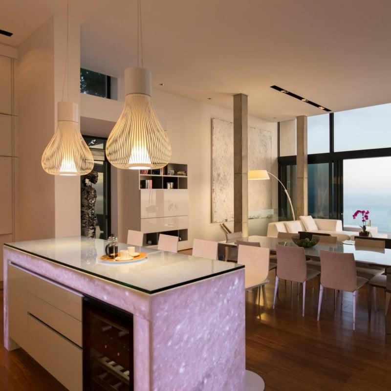 offener Wohnraum Designer-Pendelleuchten