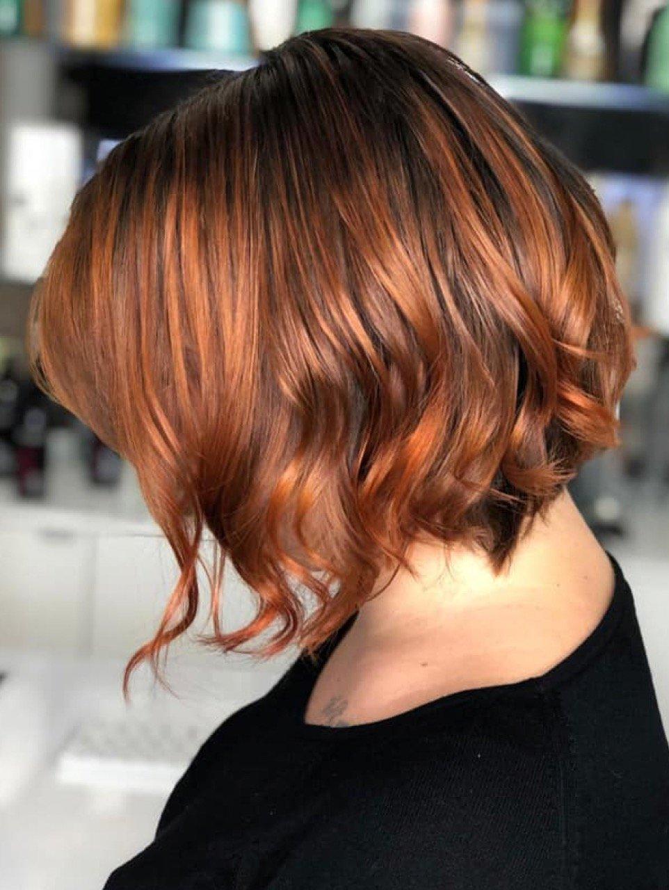 kurze Frisur romantische Wellen