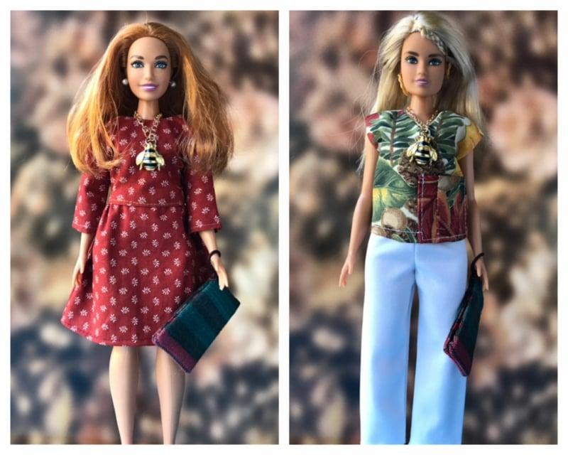 Barbie Kleidung selber machen stilvolle Ideen