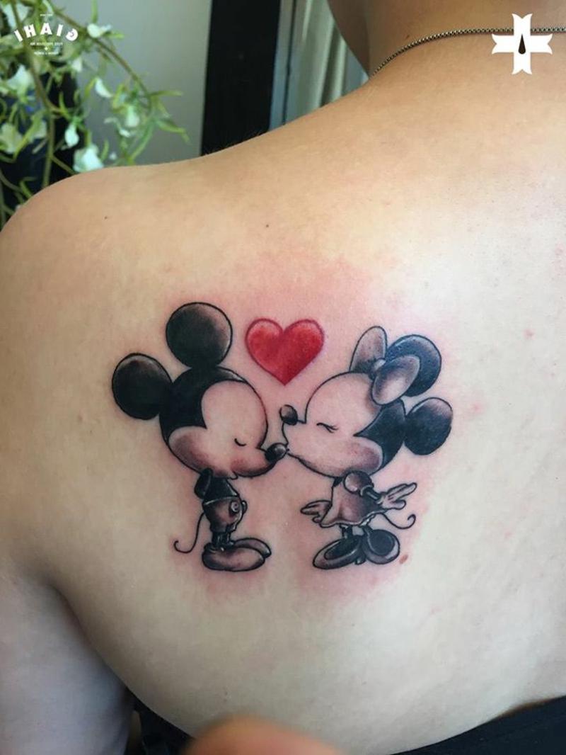 Kussmund Tattoos Disney Helden