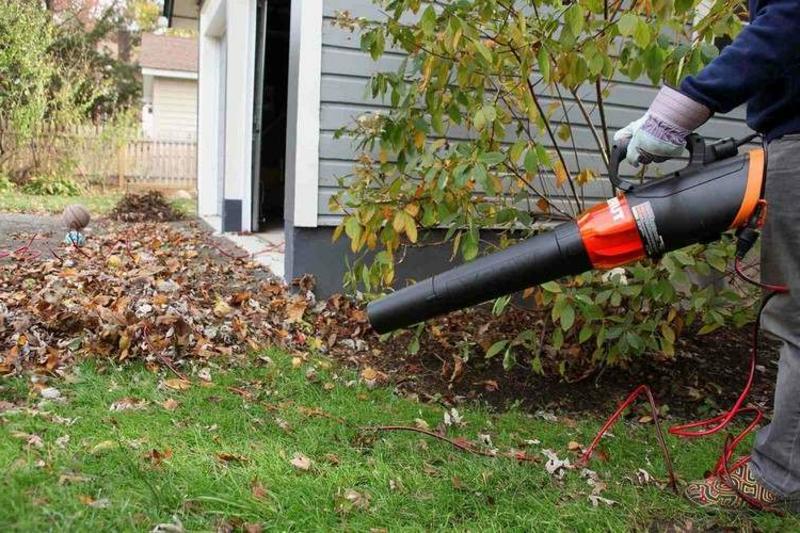 Gartenstaubsauger benutzen