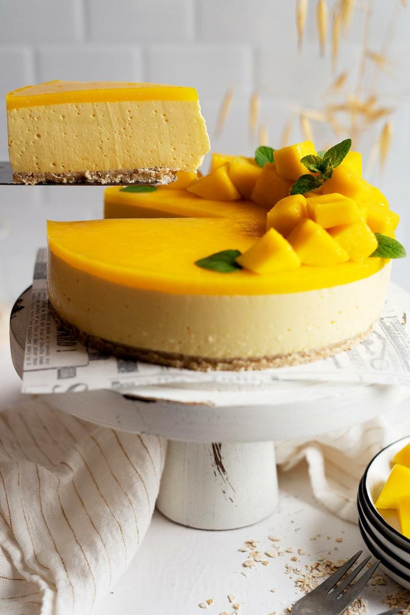 Mango gesund Cheesecake Rezept