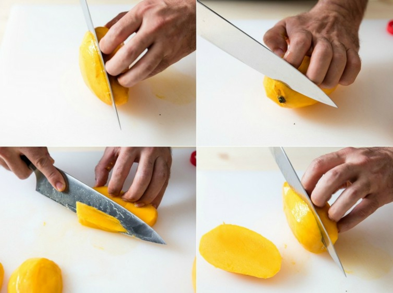 Mango gesund die Frucht schneiden