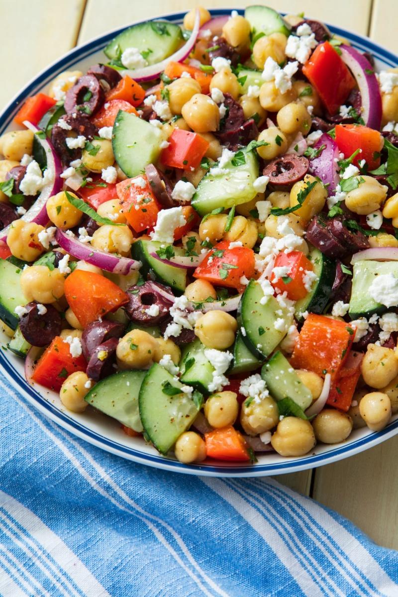 arabischer Salat mit Kichererbsen