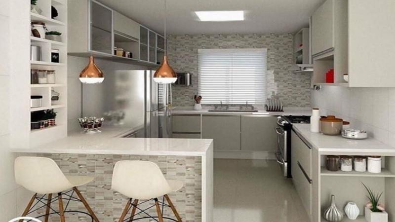 offene Küche einrichten mit verschiedenen Mustern spielen