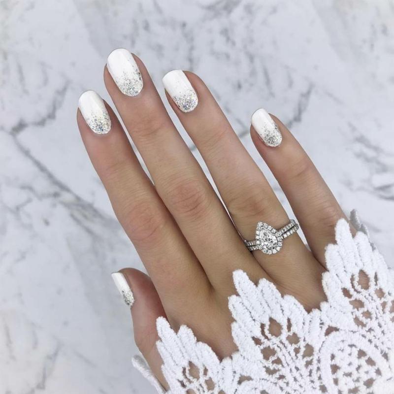 Braut Nägel zeitlos elegante Ideen