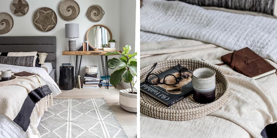 Naturmaterialien für gemütliches Schlafzimmer