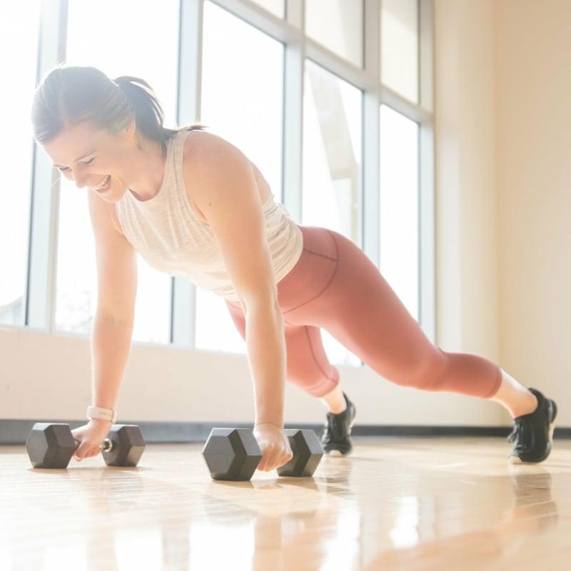 Plank Position halten