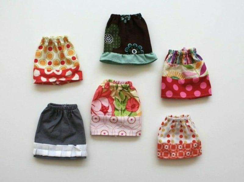 Barbie Kleidung selber machen modische Röcke