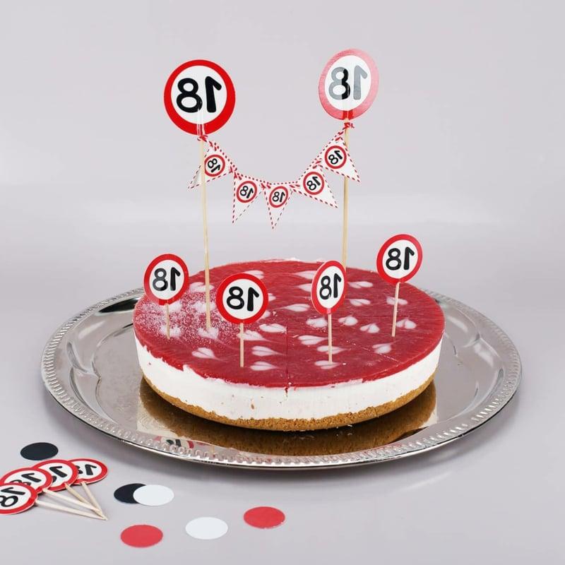 Torte 18. Geburtstag Cheesecake tolle Deko