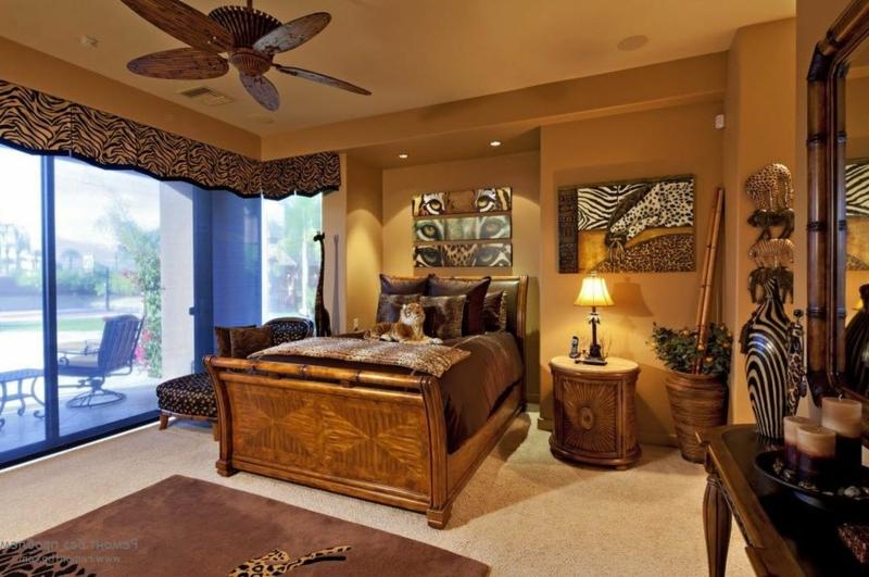 Schlafzimmer Safari-Motive