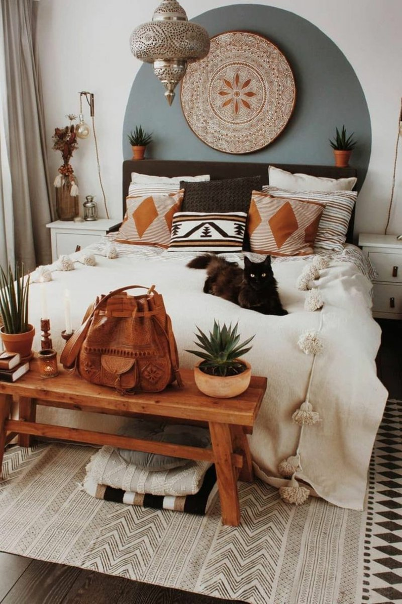 Schlafzimmer in Ethno Stil