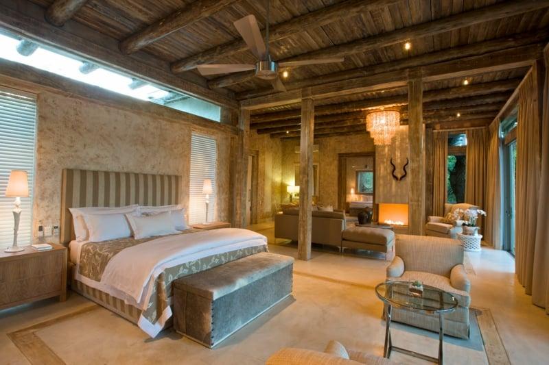 Schlafzimmer Naturmaterialien Holz