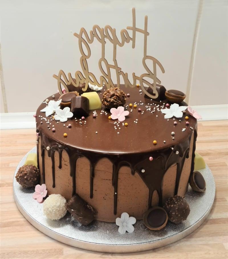 Torte 18. Geburtstag Schokoladenkuchen