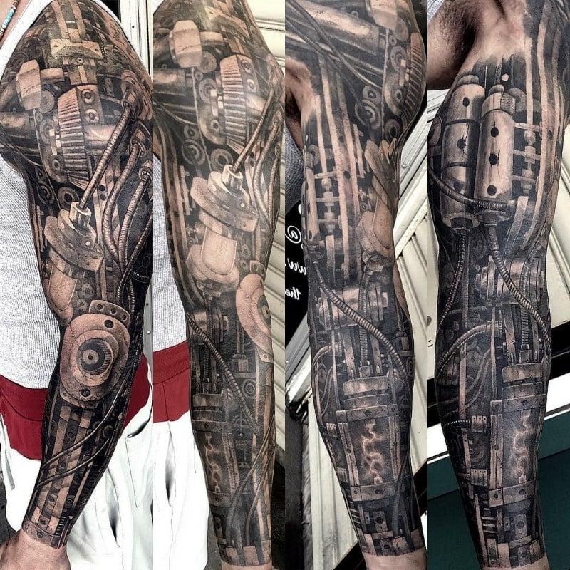3D Sleeve Tattoo Biomechanik