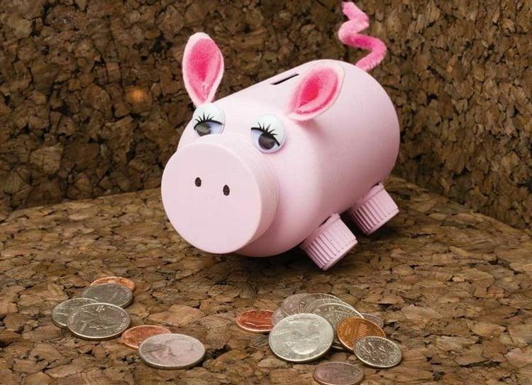 Spardose selber machen Schweinchen