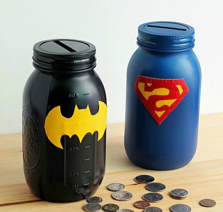 Spardosen Gläser Superhelden