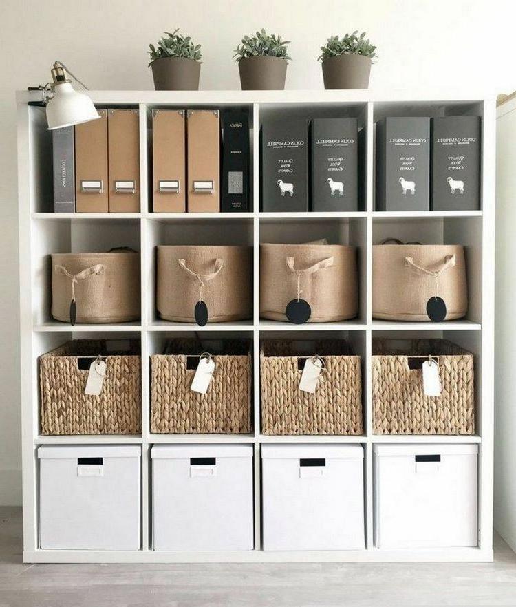 Home Office einrichten Kallax Regale genug Stauraum