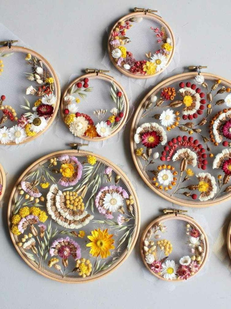 Stickrahmen dekorieren wunderschöne Geschenkidee