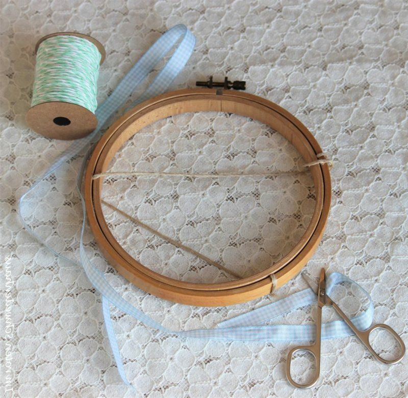 DIY Stickrahmen Deko nötige Materialien