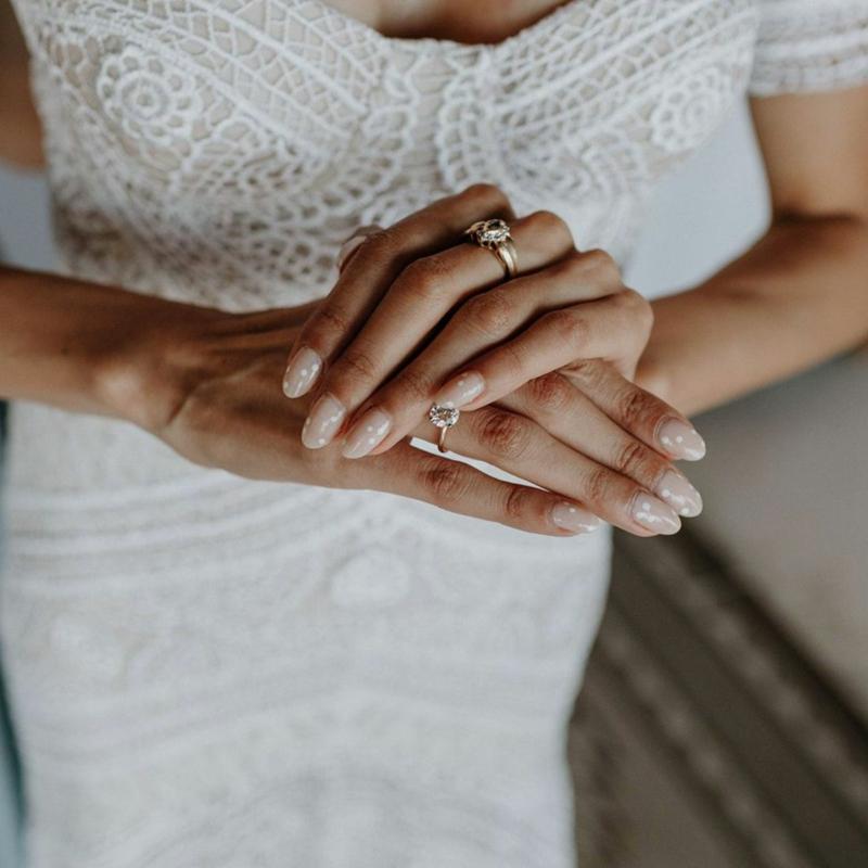 elegante Brautmaniküre