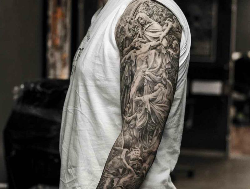 3D Tattoo religiöse Motive