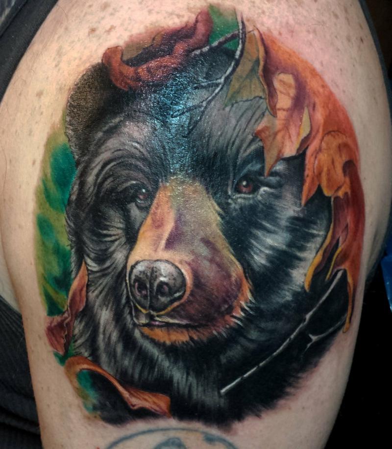3D Tattoos Bär farbig