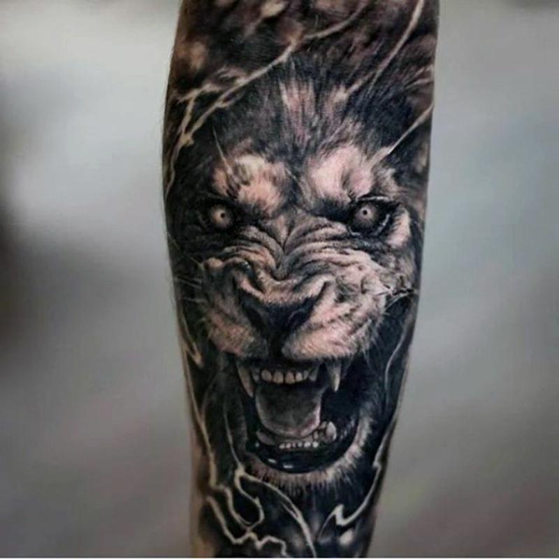 3D Tattoos für herren Löwe