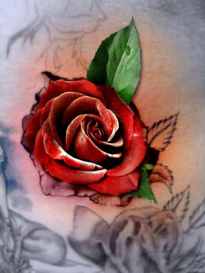 3D Tattoos für Damen Rose