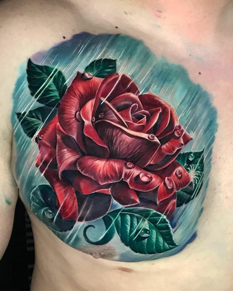 Tattoo Rose in Regen