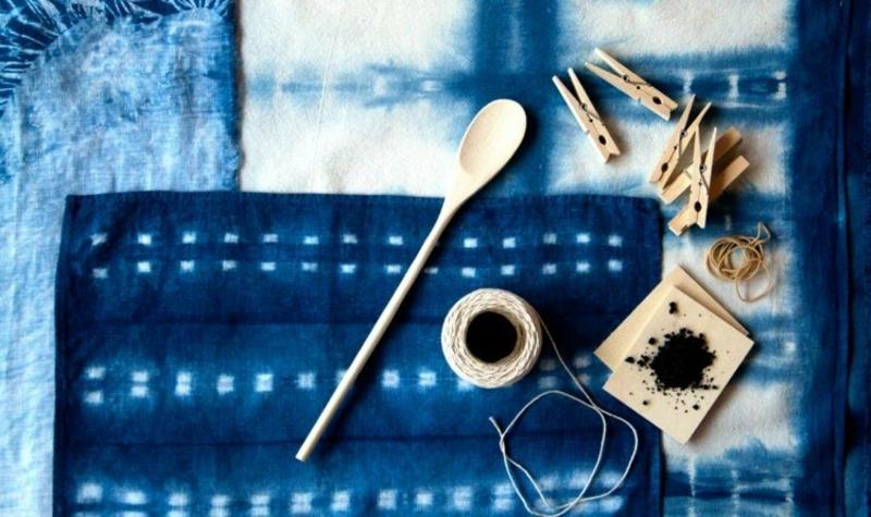 Batiktechnik Stoffe färben