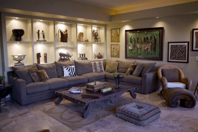 ägyptische Dekorationen Wohnzimmer