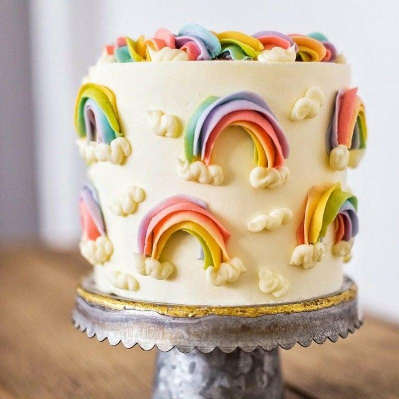 Torte Regenbogen Kindergeburtstag