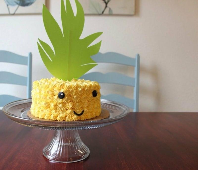 lustige Torte Ananas