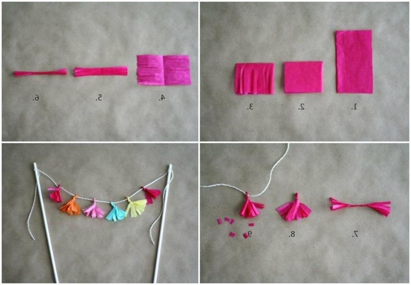 Quasten aus Seidenpapier selber machen