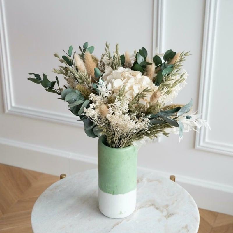 Trockenblumen arrangieren Couchtisch