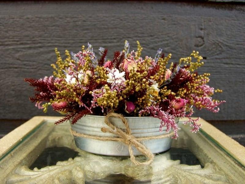 Trockenblumen und Ziergräser herrliche Idee