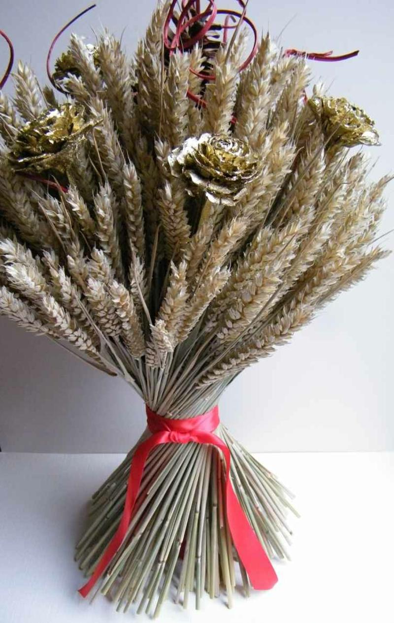 Trockenstrauß elegant Weizen