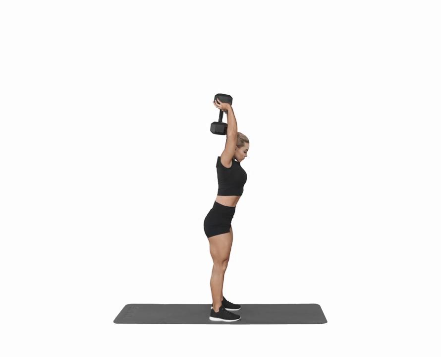 Bizeps Übungen zu Hause Frau