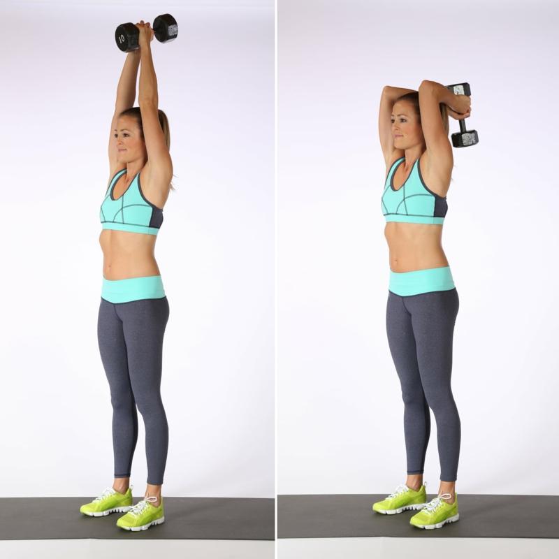 Übungen für Frauen mit Kurzhantel
