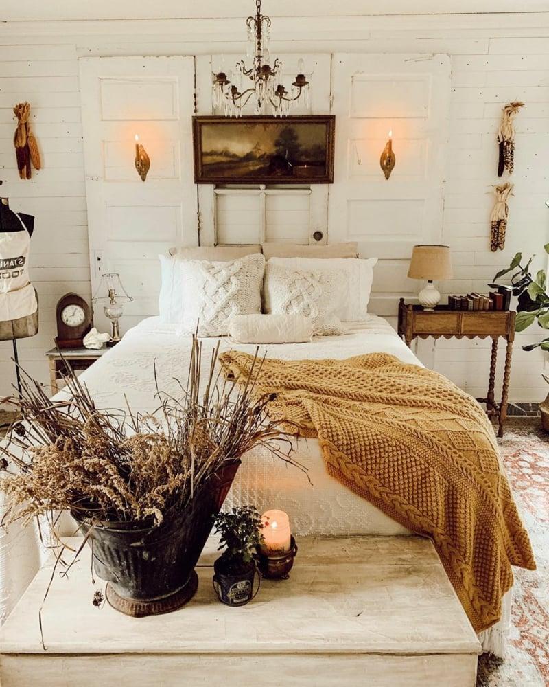 Schlafzimmer Deko romantischer Look