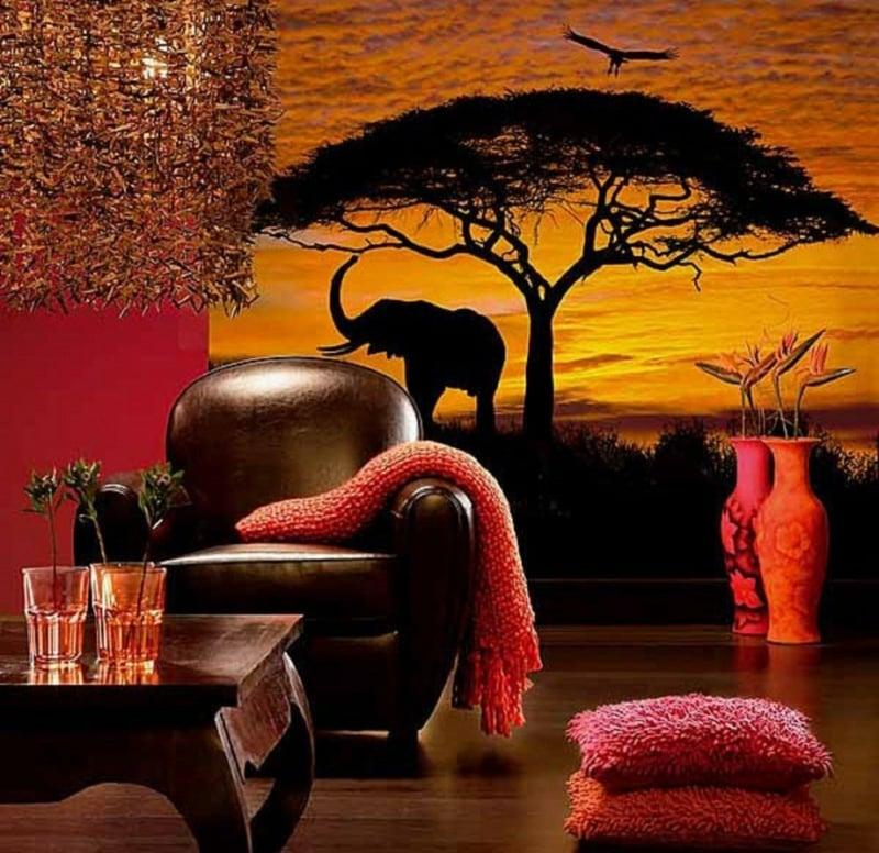 tolle Tapete afrikanische Motive