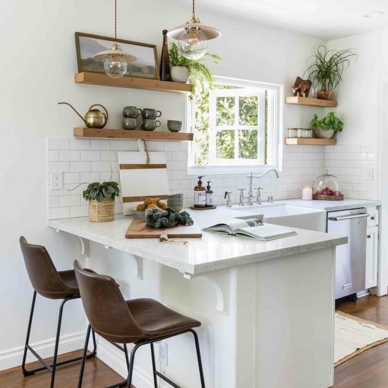 kleine Küche schön einrichten