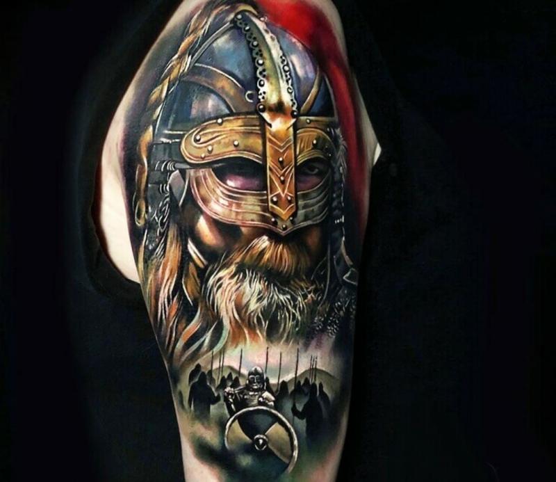 3D Tattoos Männer farbig