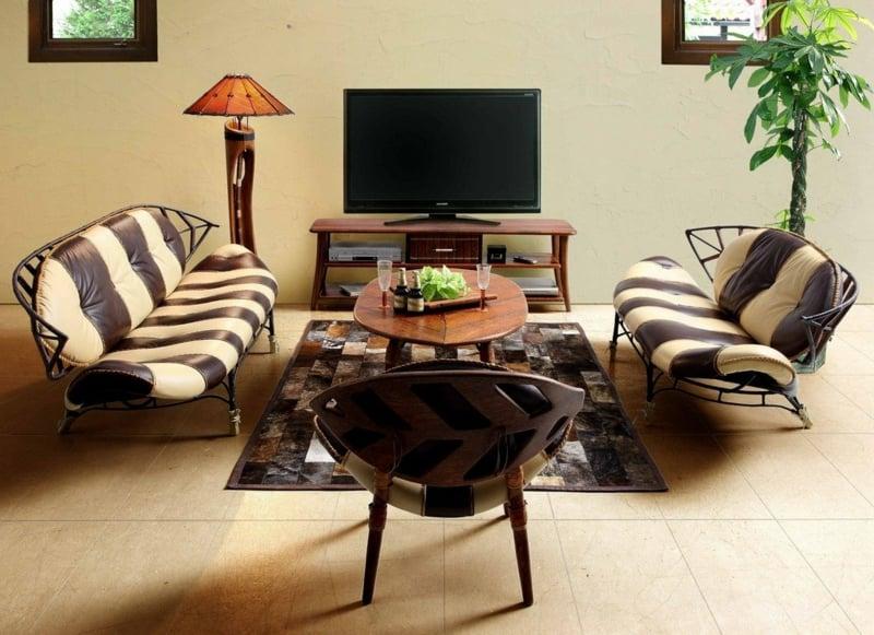 Wohnzimmer Möbel Polsterunf Zebra-Muster