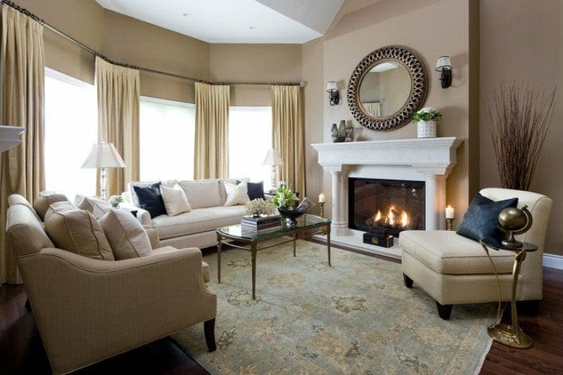 Farbe Cappuccino im Wohnzimmer Farbgestaltung modern
