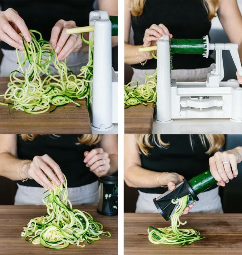 Zucchini Nudeln mit dem Spiralschneider machen