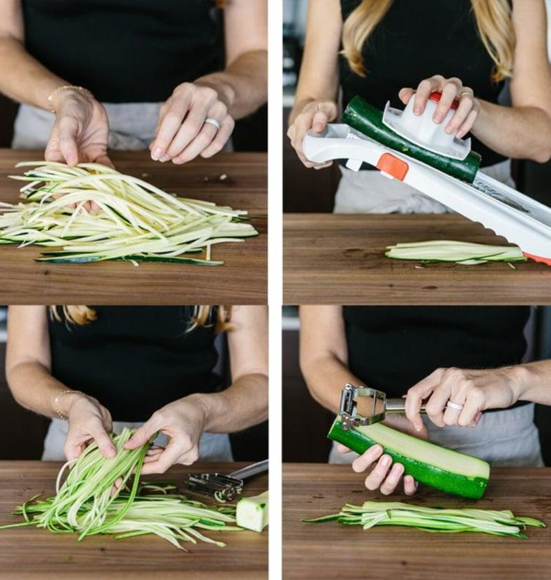 Zucchini hobeln