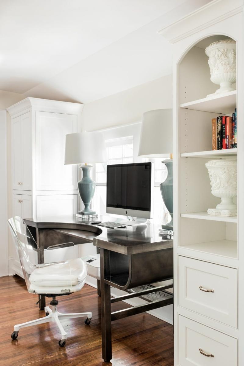 Arbeitszimmer Einrichtung wirklich stilvoll Schreibtisch Massivholz